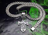 Срібна цепочка з хрестиком, фото 5