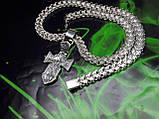 Срібна цепочка з хрестиком, фото 7