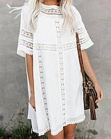 Платье белое кружевное в стиле бохо опт, фото 1
