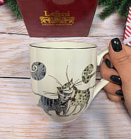 Кружка фарфоровая Веселые коты 450 мл 264-696