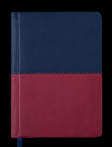 Ежедневник карманный датированный в линию Buromax 2020 Quattro, 336 страниц, A6 синий+бордовый