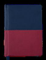 Ежедневник карманный датированный в линию Buromax 2020 Quattro, 336 страниц, A6 синий+бордовый, фото 1