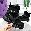 Женские зимние эко-замшевые ботинки на фигурной подошве, размеры: 40, 36, 38, 37, 39, 41, цвет -черный, фото 4