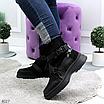 Женские зимние эко-замшевые ботинки на фигурной подошве, размеры: 40, 36, 38, 37, 39, 41, цвет -черный, фото 5