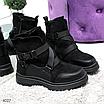 Женские зимние эко-замшевые ботинки на фигурной подошве, размеры: 40, 36, 38, 37, 39, 41, цвет -черный, фото 6