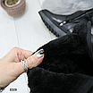 Женские зимние высокие сапоги ботфорты на платформе танкетке, размеры: 40, 36, 38, 37, 39, цвет - черный, фото 2
