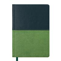 Ежедневник карманный датированный в линию Buromax 2020 Quattro, 336 страниц, A6 тёмно-зелёный+светло-зелёный
