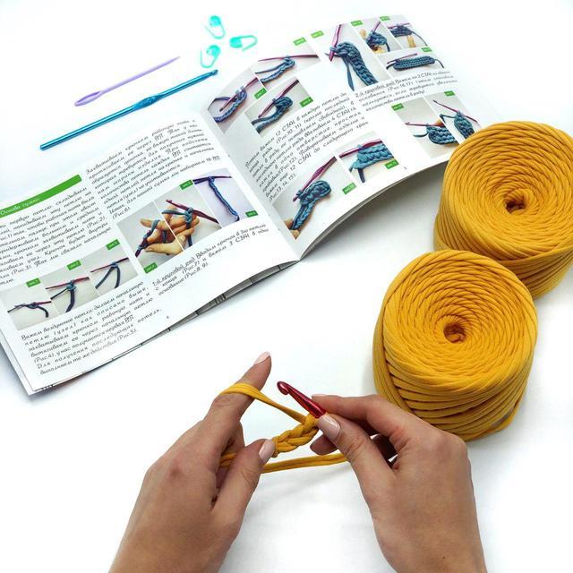 Инструкция по вязанию сумки кросс боди из трикотажной пряжи Бобилон