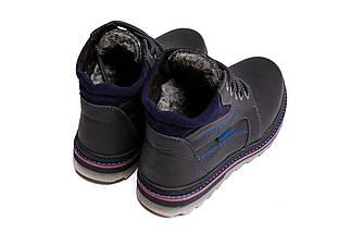 Мужские зимние кожаные ботинки в стиле Walker Seazone Blue Line, фото 2