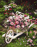 Картина по номерам пейзаж Садовые цветы (40 х 50 см), BrushMe (GX8847)