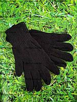 Перчатки черные вязание