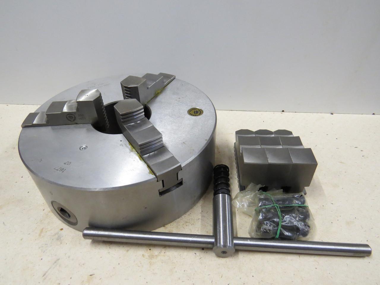 Патрон токарный 250мм 3-х кулачковый планшайба 3204 BISON-BIAL Чугун