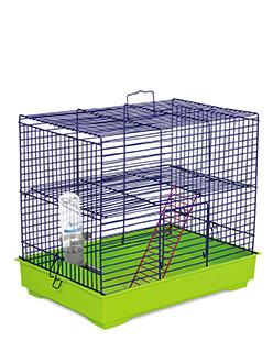 Клетка Природа Микки с лесенкой для грызунов сине-зеленая 37х25х30 см