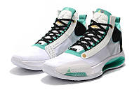 Мужские Баскетбольные кроссовки Air Jordan 34(White/green), фото 1