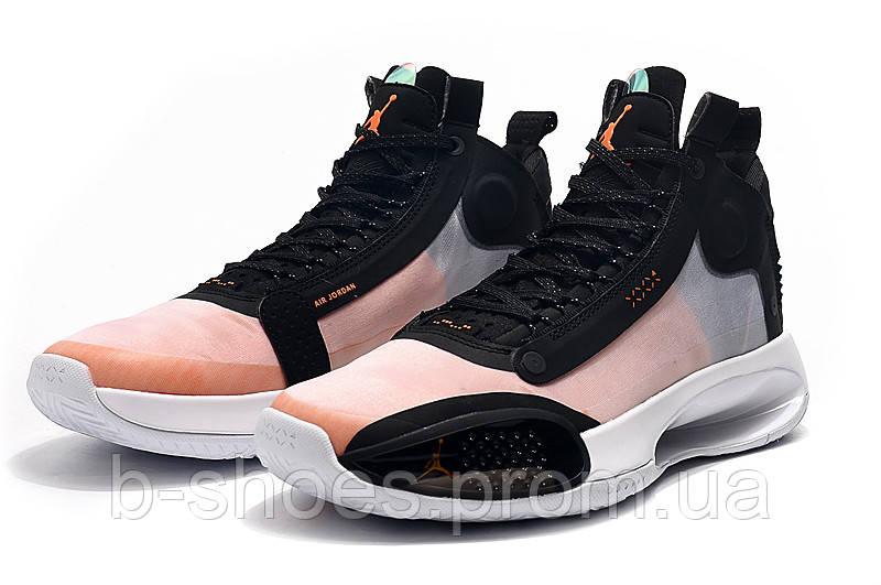 Мужские Баскетбольные кроссовки Air Jordan 34(Black/orange)