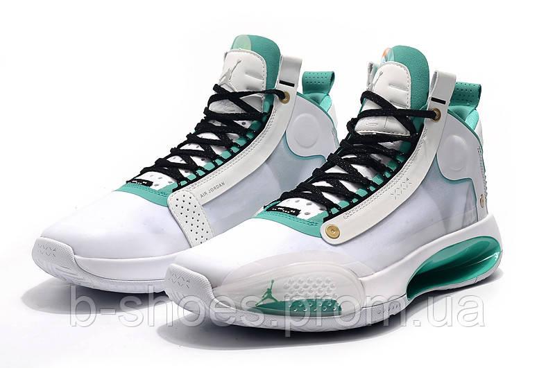 Мужские Баскетбольные кроссовки Air Jordan 34(White/green)