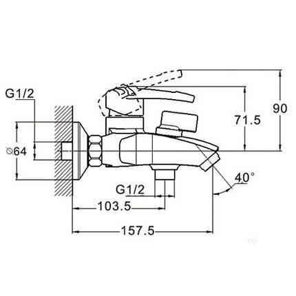 Смеситель для ванной ZEGOR SWF3-A113, фото 2