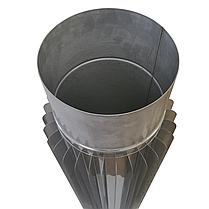 Труба-радіатор ø200 мм 1 мм 1 метр AISI 321 Stalar для димоходу сауни бані із нержавіючої сталі, фото 3