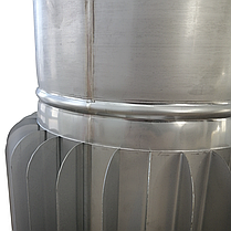 Труба-радіатор ø200 мм 1 мм 1 метр AISI 321 Stalar для димоходу сауни бані із нержавіючої сталі, фото 2