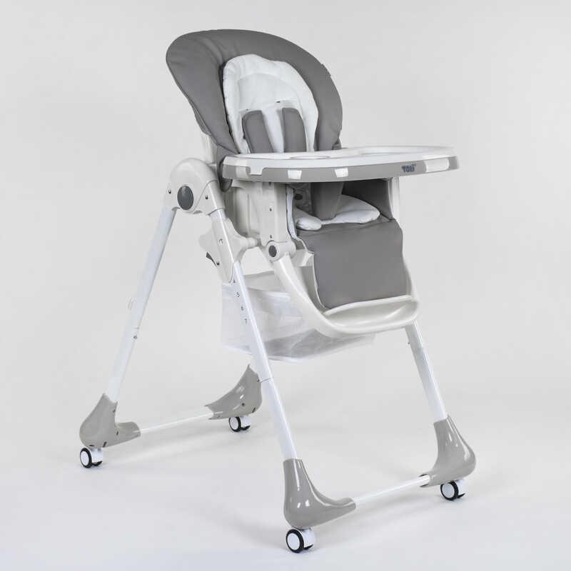 Стульчик для кормления Toti 1 мягкий PU, мягкий вкладыш, 4 колеса, съемный столик, в короб - 220746