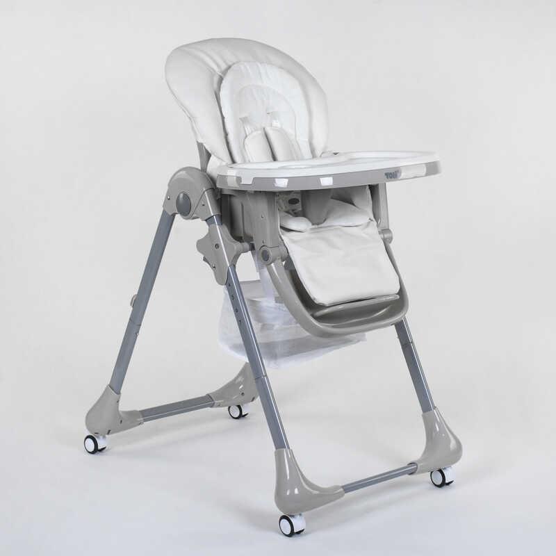 Стульчик для кормления Toti CB-4018 1 мягкий PU, мягкий вкладыш, 4 колеса, съемный столик - 220742