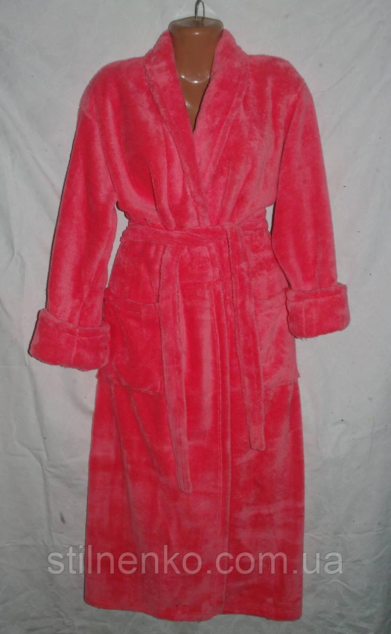 Пушистый женский халат мягкий