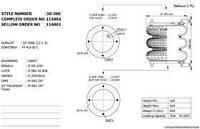 Пневморессора бублик тройной FT412-32S