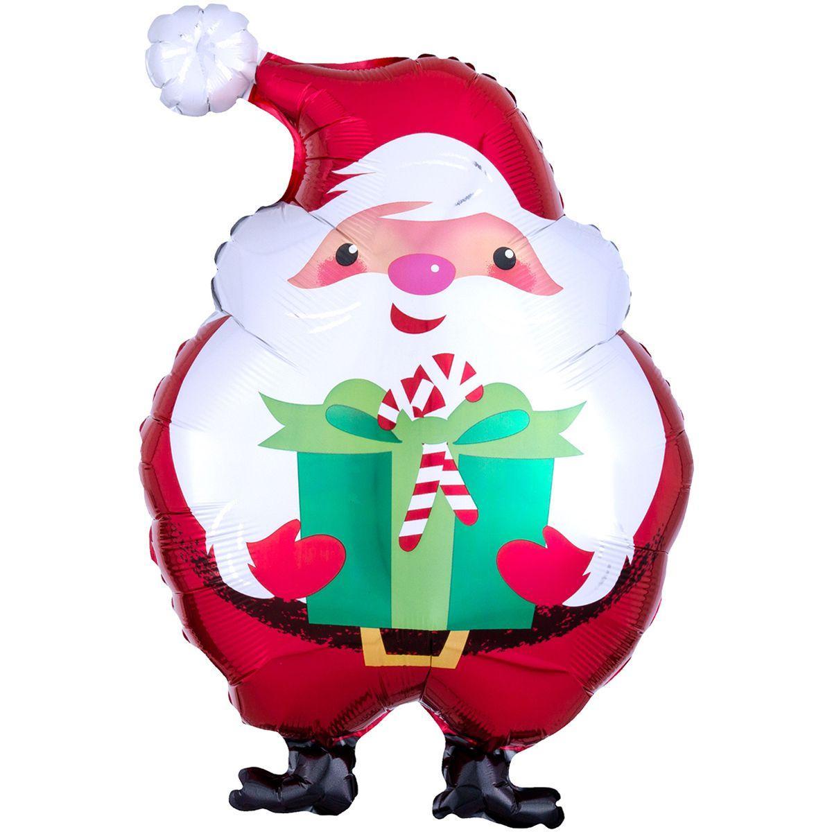 Фольгированный шар Санта 55см