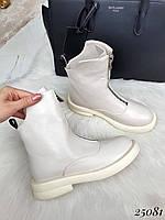 Осенние женские ботинки спереди молния, фото 1