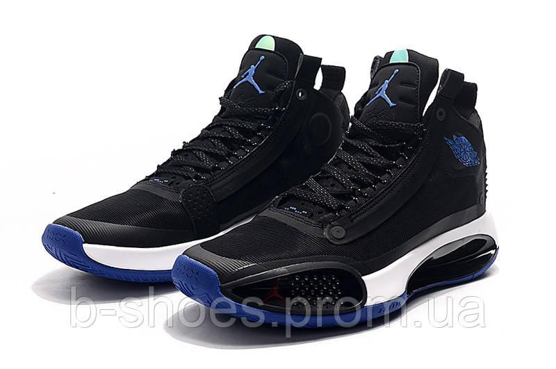 Мужские Баскетбольные кроссовки Air Jordan 34(Blue/black)