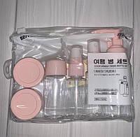Дорожный набор флаконов и баночек 8 позиций в сумочке, фото 1