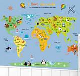 Декоративная  наклейка карта мира   (110х88см), фото 2