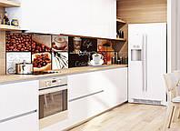 Кухонный фартук Coffee House (фотопечать, наклейка на стеновую панель кухни скинали кофе кофейные зерна чашка)