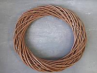 Вінок з лози коричневий D-30 см Венок из лозы коричневый