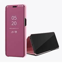 Зеркальный умный Smart чехол-книжка для Huawei Honor 8X / Стекла / розовый
