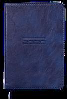 Ежедневник карманный датированный в линию Buromax 2020 Altrium, 336 страниц, A6 синий