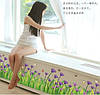 Декоративная  наклейка цветочный плинтус  (120х55см)