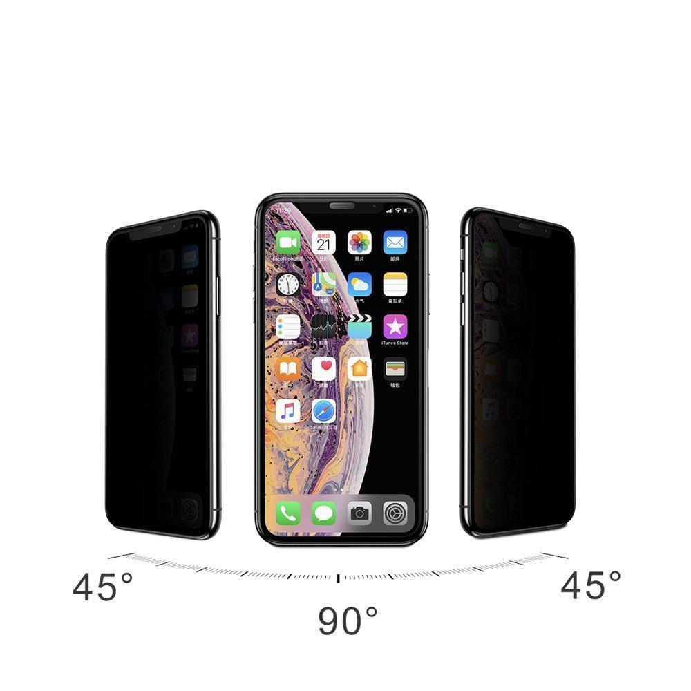 """Защитное Стекло Baseus для IPhone 11 Pro Max / XS Max Curved Privacy, Black  (SGAPIPH65-WC01) — в Категории """"Защитные Пленки и Стекла для Портативных  Устройств"""" на Bigl.ua (1098469610)"""