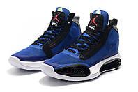Мужские Баскетбольные кроссовки Air Jordan 34(Blue/black), фото 1