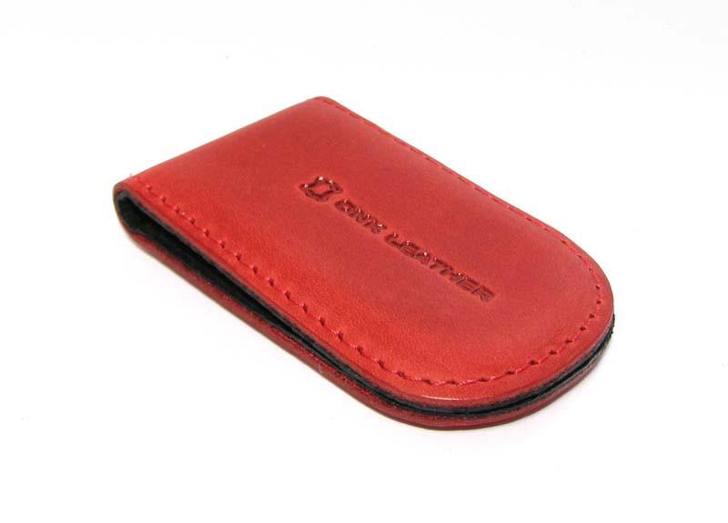 Зажим для денег DNK Leather Красный (DNK Klip magnes-H col.H)