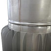 Труба-радиатор ø300 мм 1 мм 1 метр AISI 321 Stalar для дымохода сауны бани из нержавеющей стали, фото 2