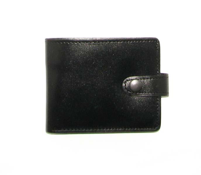 Мужской кожаный кошелек DNK Leather Черный (DNK Full Purse col.J)