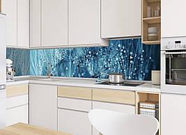 Кухонный фартук Роса полноцветная фотопечать наклейка на стену для кухни пух одуванчики капли 600*2500 мм