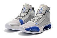 Мужские Баскетбольные кроссовки Air Jordan 34(White/blue), фото 1