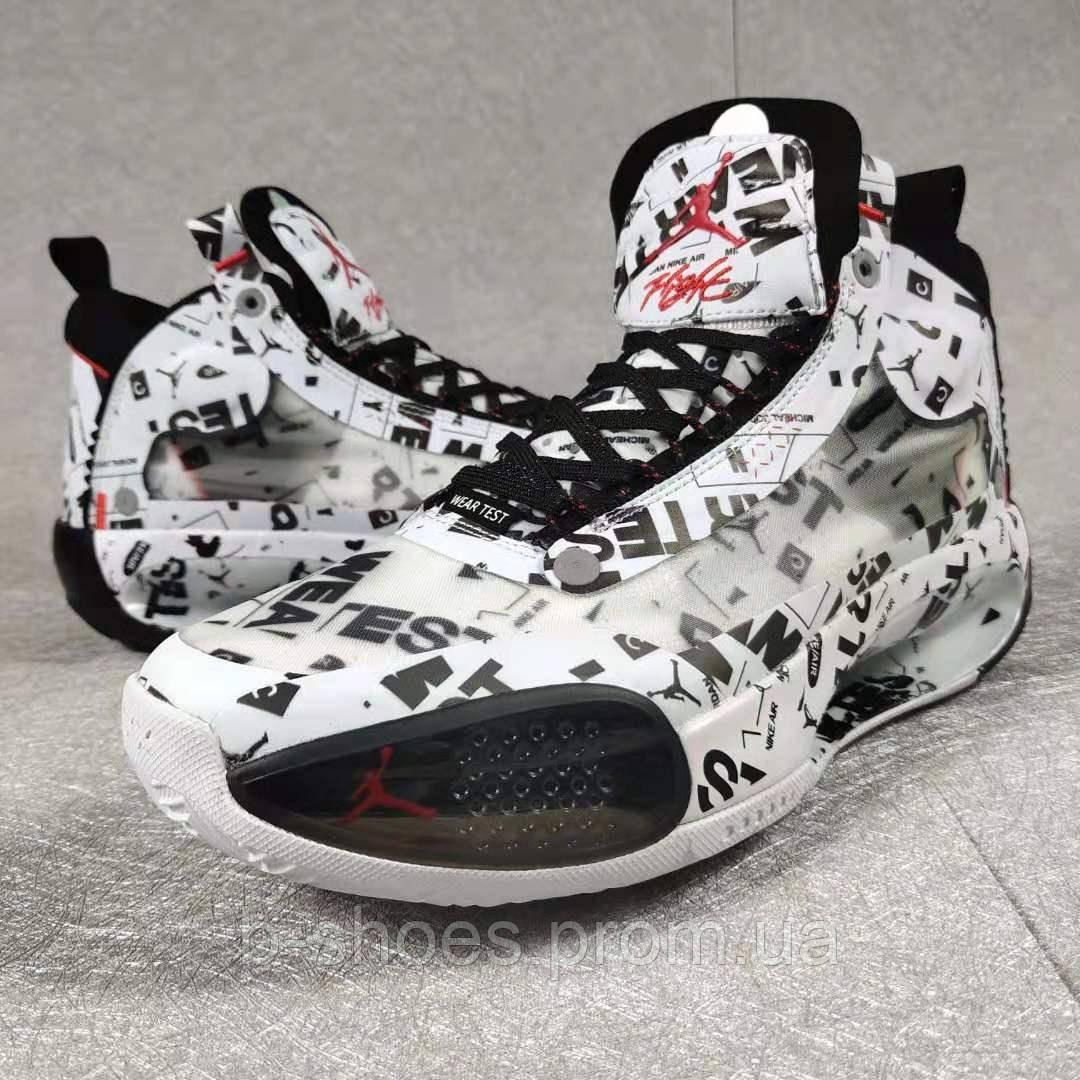Мужские Баскетбольные кроссовки Air Jordan 34(White/black)