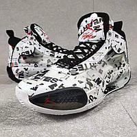 Мужские Баскетбольные кроссовки Air Jordan 34(White/black), фото 1