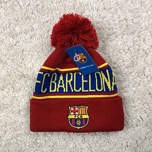 Зимняя шапка Барселона 2019-2020 вишневая