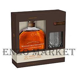 Виски Woodford Reserve Distillers Select Giftbox (Вудфорд Резерв со стаканом) 43.2%, 1 литр