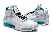 Мужские Баскетбольные кроссовки Air Jordan 34(White), фото 1