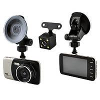 Автомобильный видеорегистратор DVR X 600 с двумя камерами, 1080P Full HD (металл)
